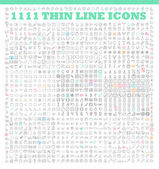 Thin line icons  icons set — Stock Vector