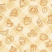 Seamless patterns with coffee theme — Wektor stockowy