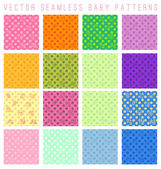 Baby seamless patterns — Stockvektor