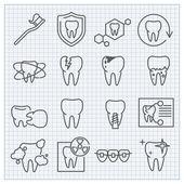 Ikony medycyny i opieki zdrowotnej — Wektor stockowy