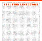 Thin line icons exclusive  icons — Stock Vector