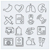 Medicine and healthcare icons — Stock Vector