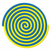 Blue and Yellow spiral — Stock Vector