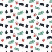 Finance crisis seamless pattern — Stock Vector