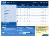 Web application interface template — Vector de stock