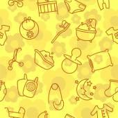 Seamless baby goods pattern — Stockvektor