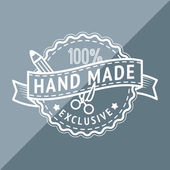 Hand made stamp — Stock Vector
