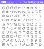 Universal  interface icons set — Vettoriale Stock