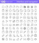 Universal  interface icons set — Cтоковый вектор