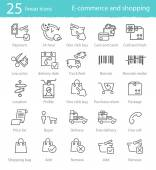 E-commerce and shopping icons — Stock Vector