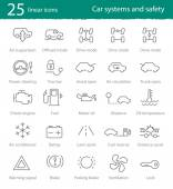 Car interface icons set — Stock Vector
