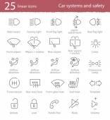 Car interface icons set — Stock Vector