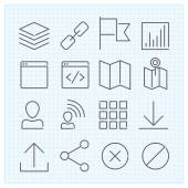 Linear icons set — Stock Vector