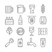 Vector beer icons — Stock Vector