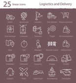 Logistics and delivery icons — Stock Vector