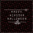 Halloween background with inscription — Stock Vector #78728940