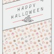 Halloween background with inscription — Stock Vector #78728942
