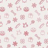 Halloween seamless background — Stock Vector