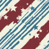 Stars and Stripes seamless pattern — Stock Vector