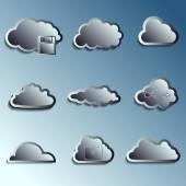 Steel 3d vector clouds — Cтоковый вектор