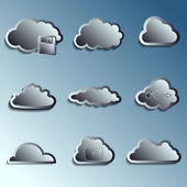 Steel 3d vector clouds — ストックベクタ
