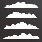 Collection of Various clouds with a big long shape — Stock Vector