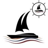 Яхт-клуб векторный логотип — Cтоковый вектор