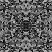 Seamless texture with triangles, mosaic endless pattern. Black and white. — Stock Vector