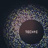 Technologie für Ihre Logo-Vorlage-Runde. Einsetzbar für Business-Präsentation. — Stockvektor