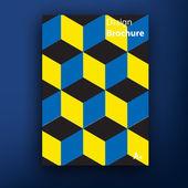 ベクトル パンフレット小冊子のカバー デザイン テンプレート コレクション A4 — ストックベクタ