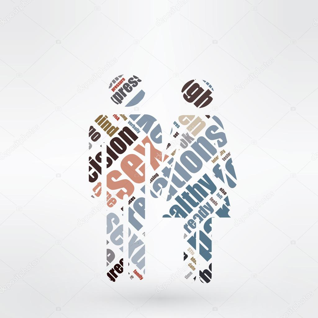 Gmail love theme - Crosswords Theme Man And Woman Shapes Made From Crossing Words St Valentine S Day And Love Theme Vector By Ostroverhoff Gmail Com