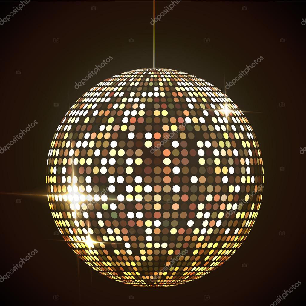 Bola de discoteca vector ilustraci n eps10 del espejo - Bola de discoteca de colores ...
