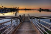 Empty dock in the marina — Stock Photo