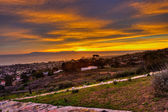 Fiery sky over the hillside V — Стоковое фото