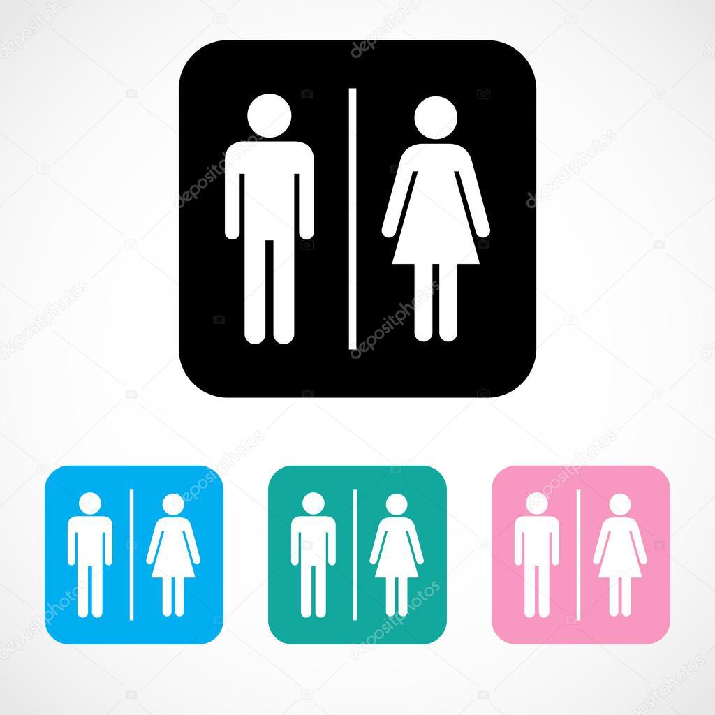 Símbolo de baños masculinos y femeninos — Archivo Imágenes Vectoriales © yayh -> Banheiro Feminino Simbolo
