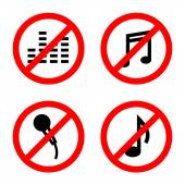 Not allowed music sign vector — Stock Vector