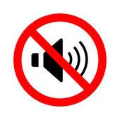 Not Speaker sign vector — Stock Vector