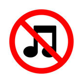 Not Music sign vector — Stock Vector