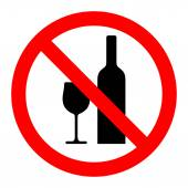 No drinking sign vector — Stock Vector