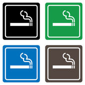 Smoking area labels vector — Stock Vector