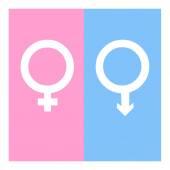 Vector gender symbol icons illustration — Διανυσματικό Αρχείο