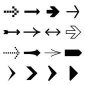 Arrow icon set vector and icon — Stock Vector