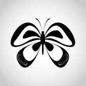 Butterfly silhouette black — Vettoriale Stock