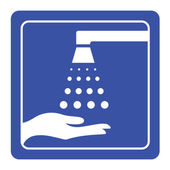 Please wash your hands sign vector — Stock vektor