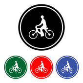 Bicycle icon vector — Stock Vector