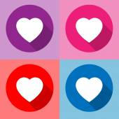 Heart icon vector — Stock Vector