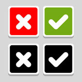 Yes, No, Thumbs up and down icons, vector illustration — Stock Vector