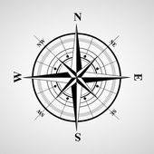 Vector compasses icon. Wind rose, EPS 10 — Stock Vector