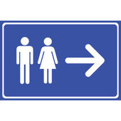 Man and lady toilet sign, Vector illustration — Stock Vector