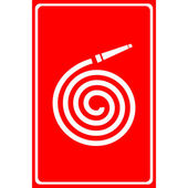 Vector fire station, Fire hose reel icon. Illustration EPS10 — Stock Vector